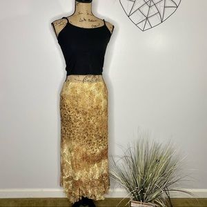 Chico's Romantic Lace Tiered Maxi Skirt Size 1